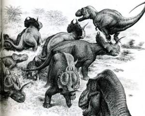 Стадо динозавров