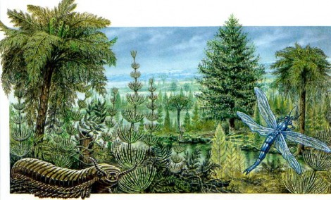 Эпоха гигантских деревьев и насекомых